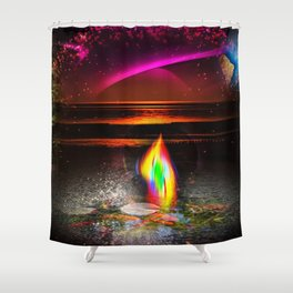 Our world is a magic - Sunset Shower Curtain