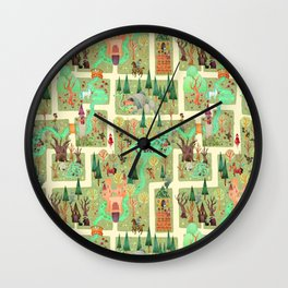 The Enchanted Forest  Wall Clock