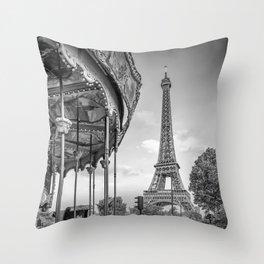Typical Paris Throw Pillow
