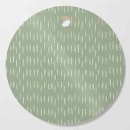 Raindrop Boho Abstract Pattern, Sage Green Cutting Board
