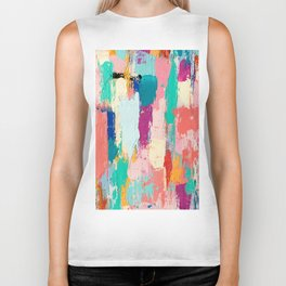 CABBAGE HANDS // ABSTRACT MIXED MEDIA ON CANVAS Biker Tank