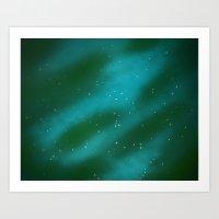 Seeing Stars- Teal Art Print