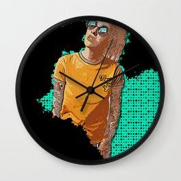 Graphic Grunge Series: New York Girl Wall Clock