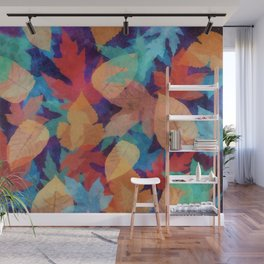 Colorful fallen leaves Wall Mural