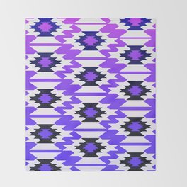 Ultraviolet geometry Throw Blanket