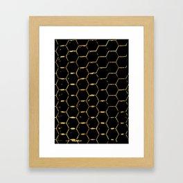 golden beehive Framed Art Print