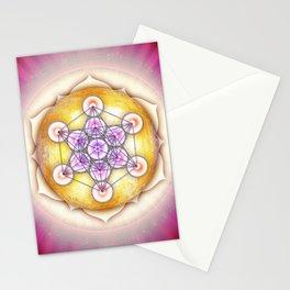 Metatron's Cube - Sun I Stationery Cards