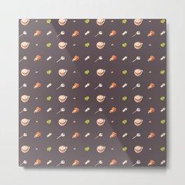 Icing Cookie Pattern_Dark Metal Print