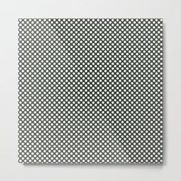 Duffel Bag and White Polka Dots Metal Print