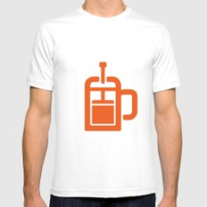 Coffee: The French Press Mens Fitted Tee White SMALL