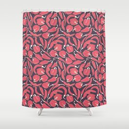 Red chili peppers Shower Curtain