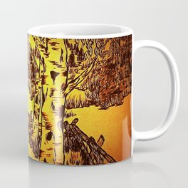 Golden Mountain Sunset - Coffee Mug