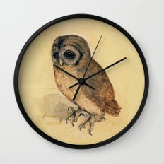Albrecht Durer The Little Owl Wall Clock