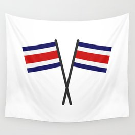 costa rica flag Wall Tapestry