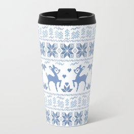 Christmas pattern. Cross-stitch. 2 Travel Mug