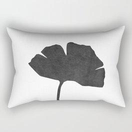 Ginko leaf black and white Rectangular Pillow
