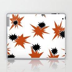 Stars (Orange & Black on White) Laptop & iPad Skin