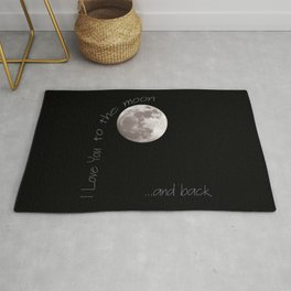 I love you to the moon and back Rug