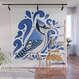 Bluejay Peanut Wall Mural