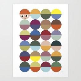 Cirkles Art Print
