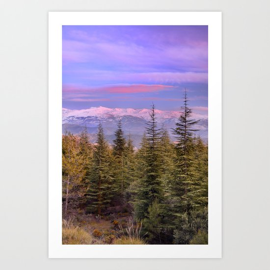 """At the mountains"" Art Print"