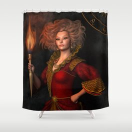Leo zodiac sign Shower Curtain
