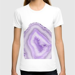 Soft Lavender Agate Dream #1 #gem #decor #art #society6 T-shirt