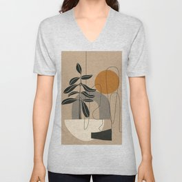 Abstract Shapes 04 Unisex V-Neck