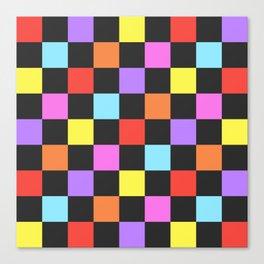 Spring Checkers Canvas Print