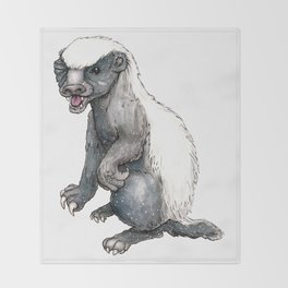 Sassy Honey Badger Throw Blanket