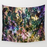vintage flowers Wall Tapestries featuring Vintage Flowers by Vitta