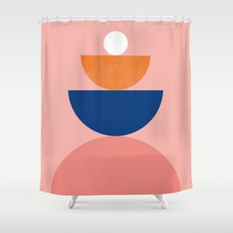 Abstraction_BALANCE_Modern_Minimalism_Art_004 Shower Curtain