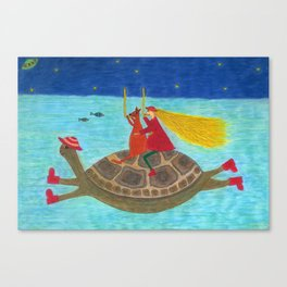 Ozzi and Lulu Snorkelling Canvas Print