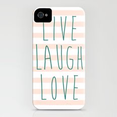 LIVE LAUGH LOVE Slim Case iPhone (4, 4s)