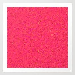 Hot Pink and gold Art Print
