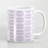 macaroon Mugs featuring Purple Macaron Pattern - Lavender Macaroon by French Macaron Art Print and Decor Store