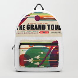Retro Space Poster - The Grand Tour Poster Backpack