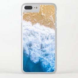 Ocean blue sand brown Clear iPhone Case