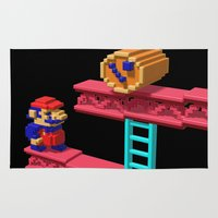 donkey kong Area & Throw Rugs featuring Inside Donkey Kong by Metin Seven