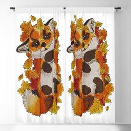 Cute Fox automn Blackout Curtain