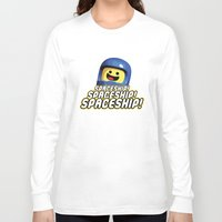 spaceship Long Sleeve T-shirts featuring Spaceship! by D-fens