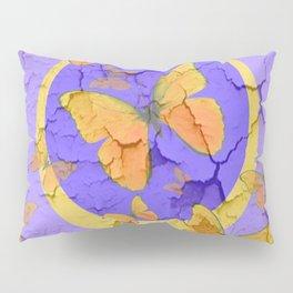 OLD YELLOW BUTTERFLIES &  LILAC WALLPAPER MODERN ART  f Pillow Sham