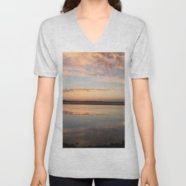 Tillamook Bay, Oregon Sunset Unisex V-Neck