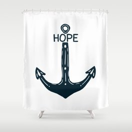 Hope Anchor Shower Curtain