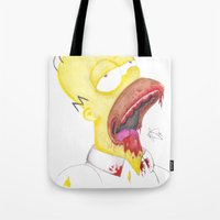 homer Tote Bags featuring Undead Homer by renegade_v2