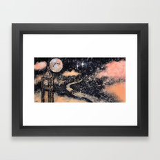 Second Star to the Right and straight on till Morning Framed Art Print