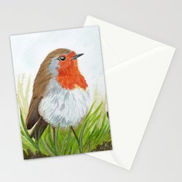 Robin with Oakleaves Stationery Cards