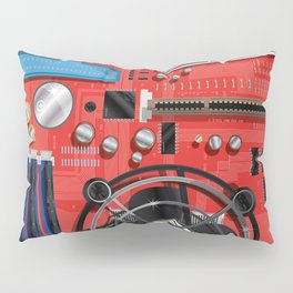 Computer Motherboard Electronics. Pillow Sham