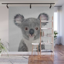 Baby Koala - Colorful Wall Mural