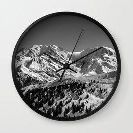 Mt. Blanc (Mono) Wall Clock